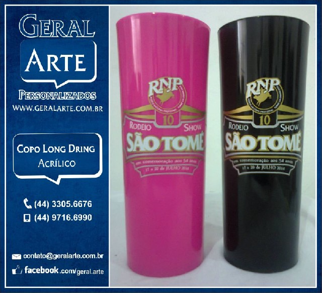 Suficiente Copos personalizados acrílico long drink 320 ml - Classificados Brasil FW86
